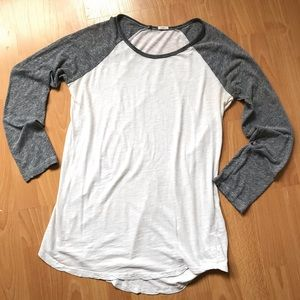 MONROW Baseball Top 3/4 Sleeves Raglan T-Shirt M